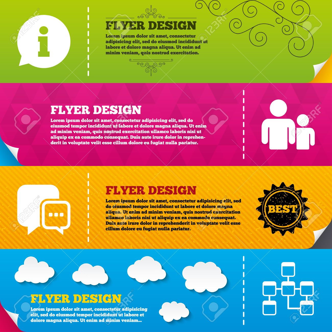flyer brochure designs information sign group of people and