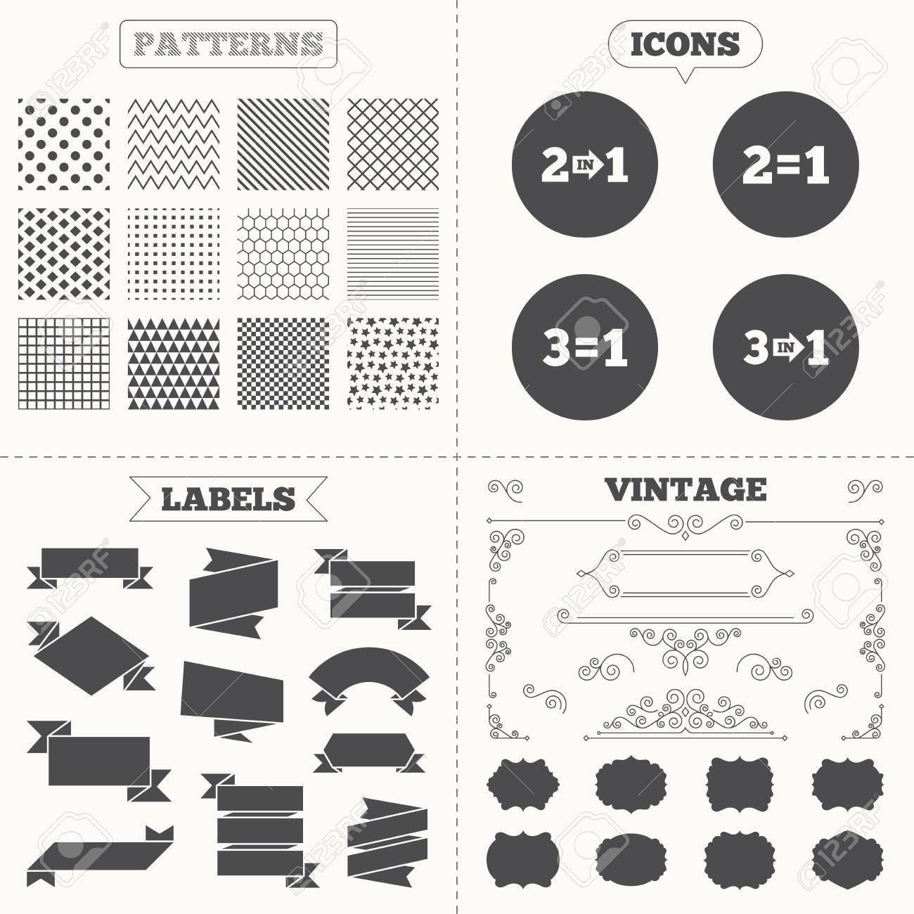 Nahtlose Muster Verkauf Tags Etiketten Sonderangebot Symbole