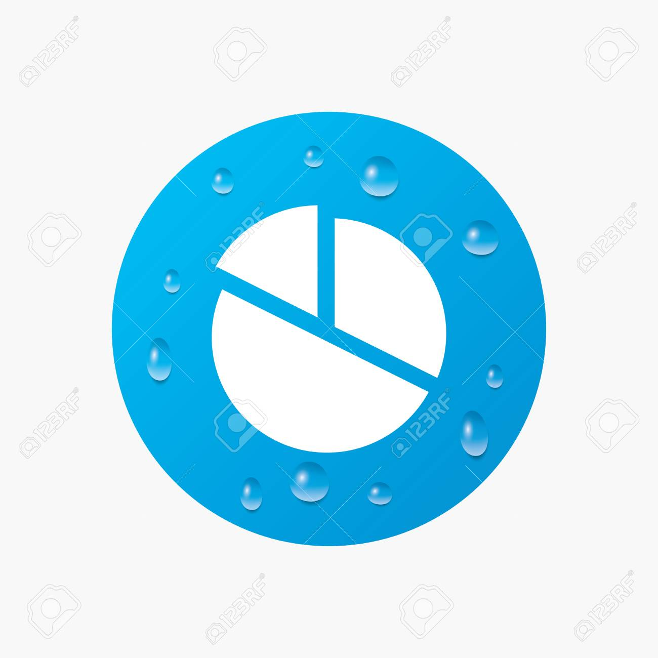 Water drops on button pie chart graph sign icon diagram button vector water drops on button pie chart graph sign icon diagram button realistic pure raindrops blue circle vector ccuart Image collections