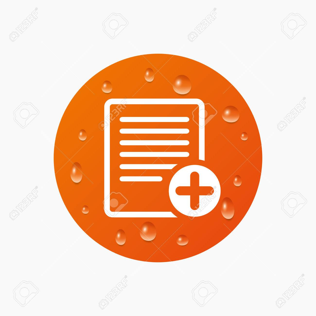 Water drops on button text file sign icon add file document water drops on button text file sign icon add file document symbol realistic biocorpaavc Image collections