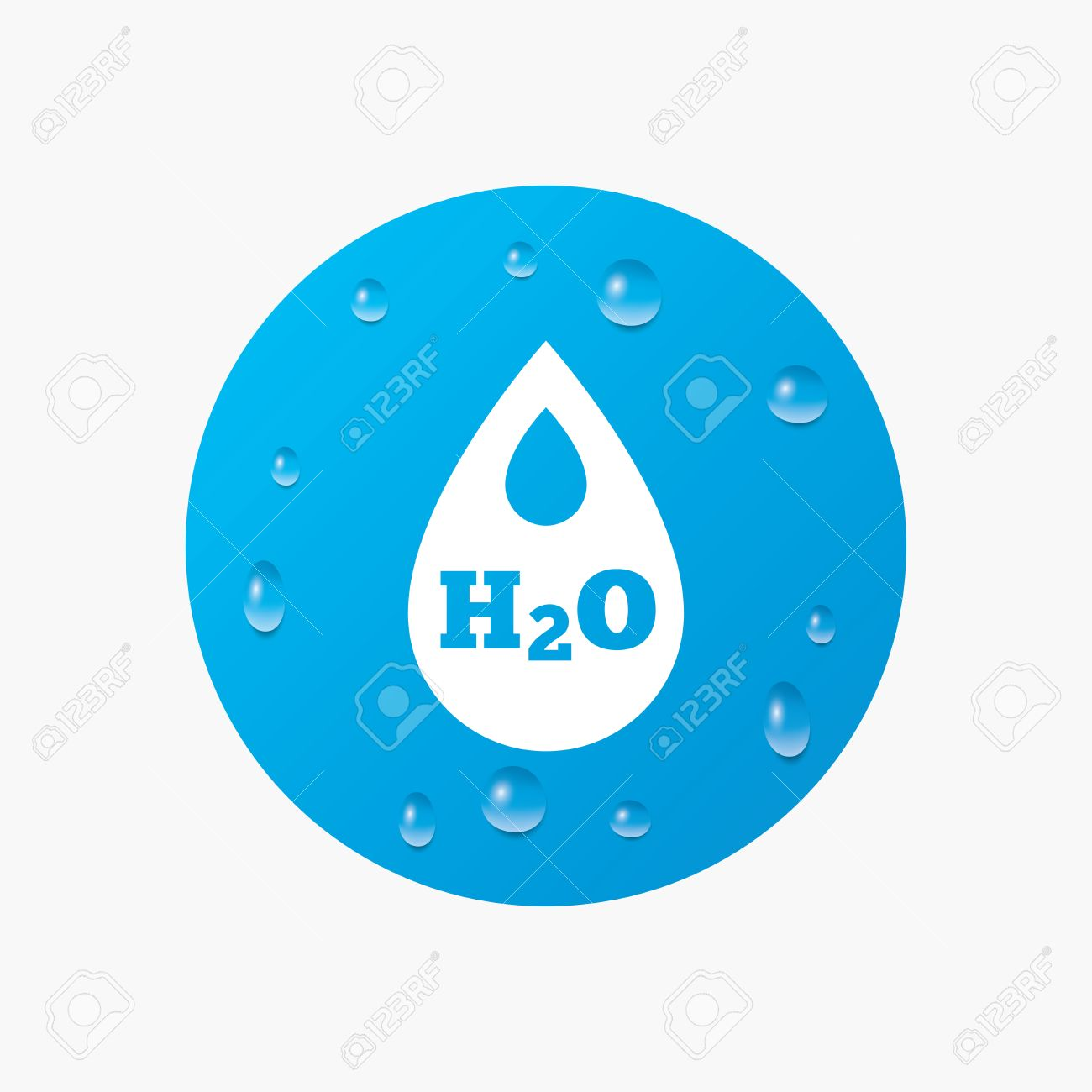 Water drops on button h2o water drop sign icon tear symbol water drops on button h2o water drop sign icon tear symbol realistic pure biocorpaavc Image collections