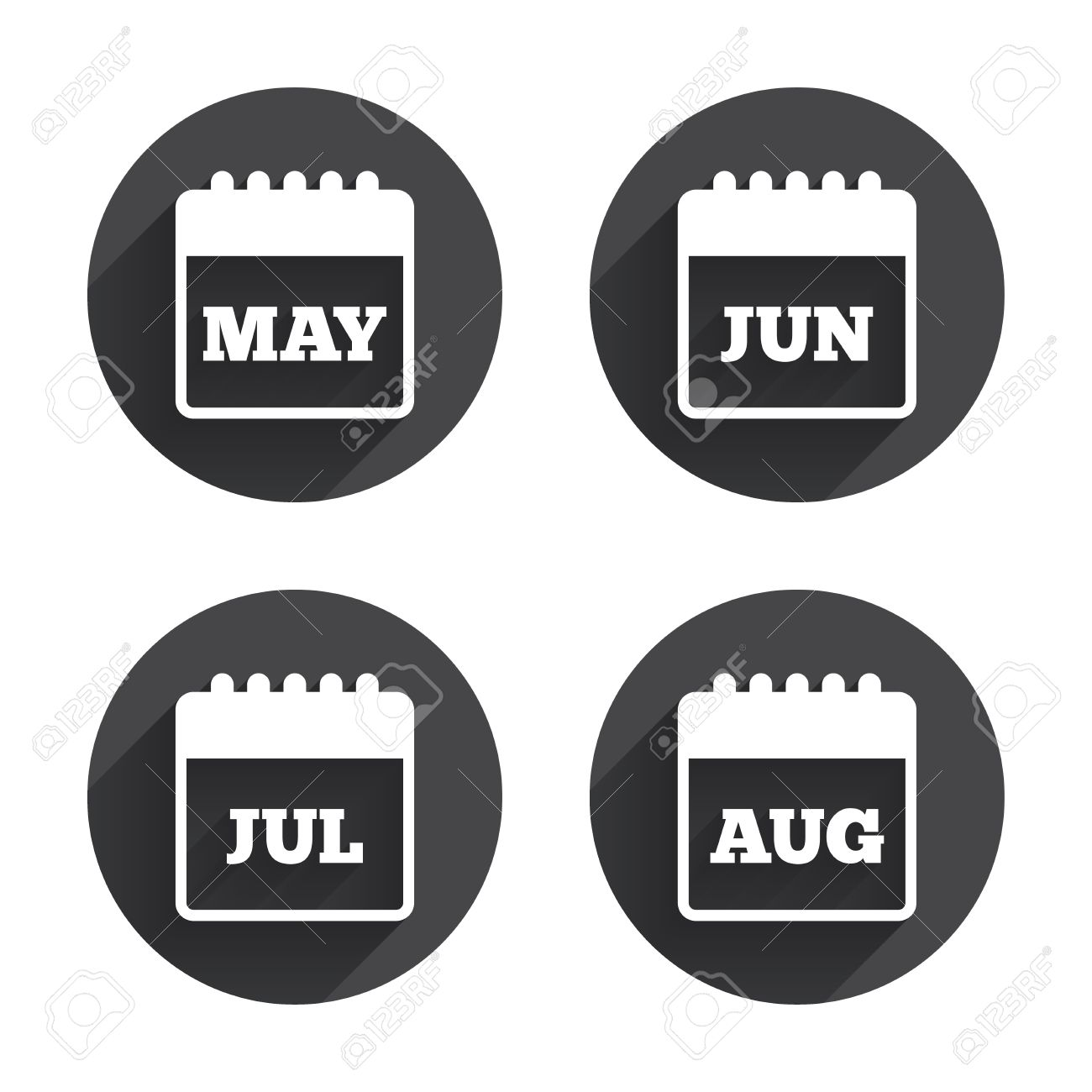 Calendar icons may june july and august month symbols date may june july and august month symbols date or event buycottarizona Image collections
