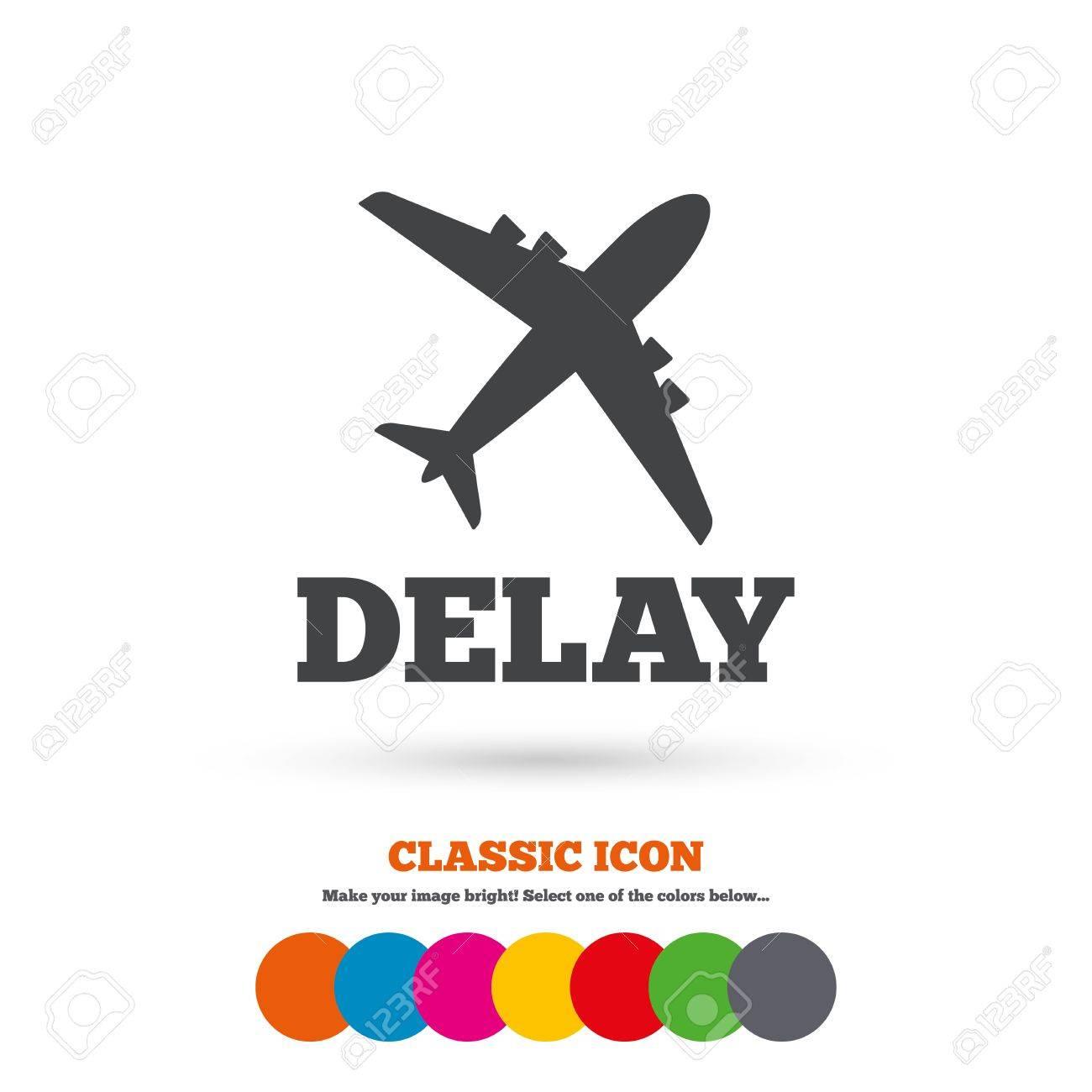 Delayed flight sign icon airport delay symbol airplane icon delayed flight sign icon airport delay symbol airplane icon classic flat icon buycottarizona Gallery