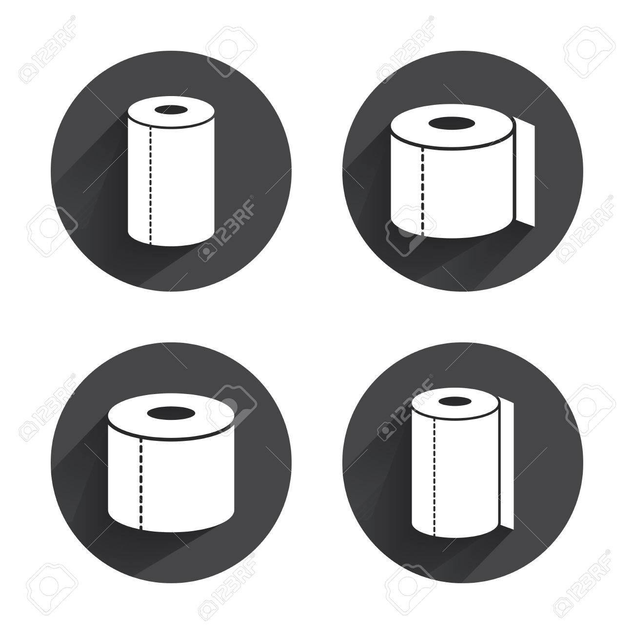 Toilet paper icons kitchen roll towel symbols wc paper signs kitchen roll towel symbols wc paper signs circles buttons with buycottarizona Choice Image