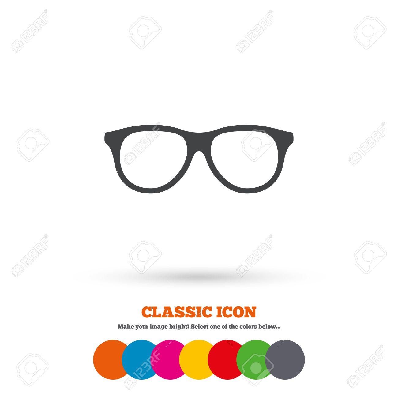Vidrios Retros Firman Icono. Símbolo De Montura De Gafas. Icono ...