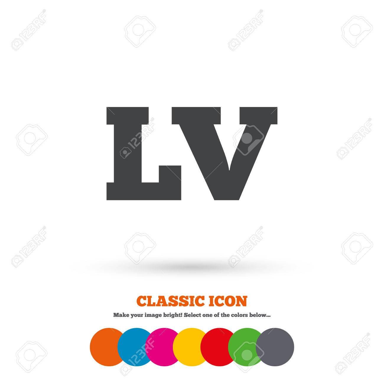 Latvian Language Sign Icon Lv Latvia Translation Symbol Classic