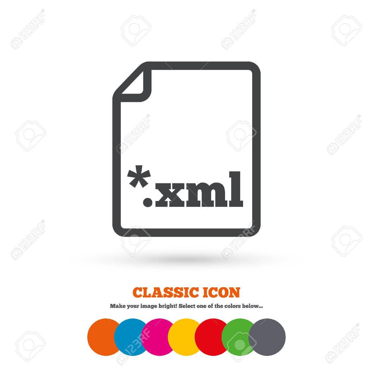file document icon download xml button xml file extension symbol