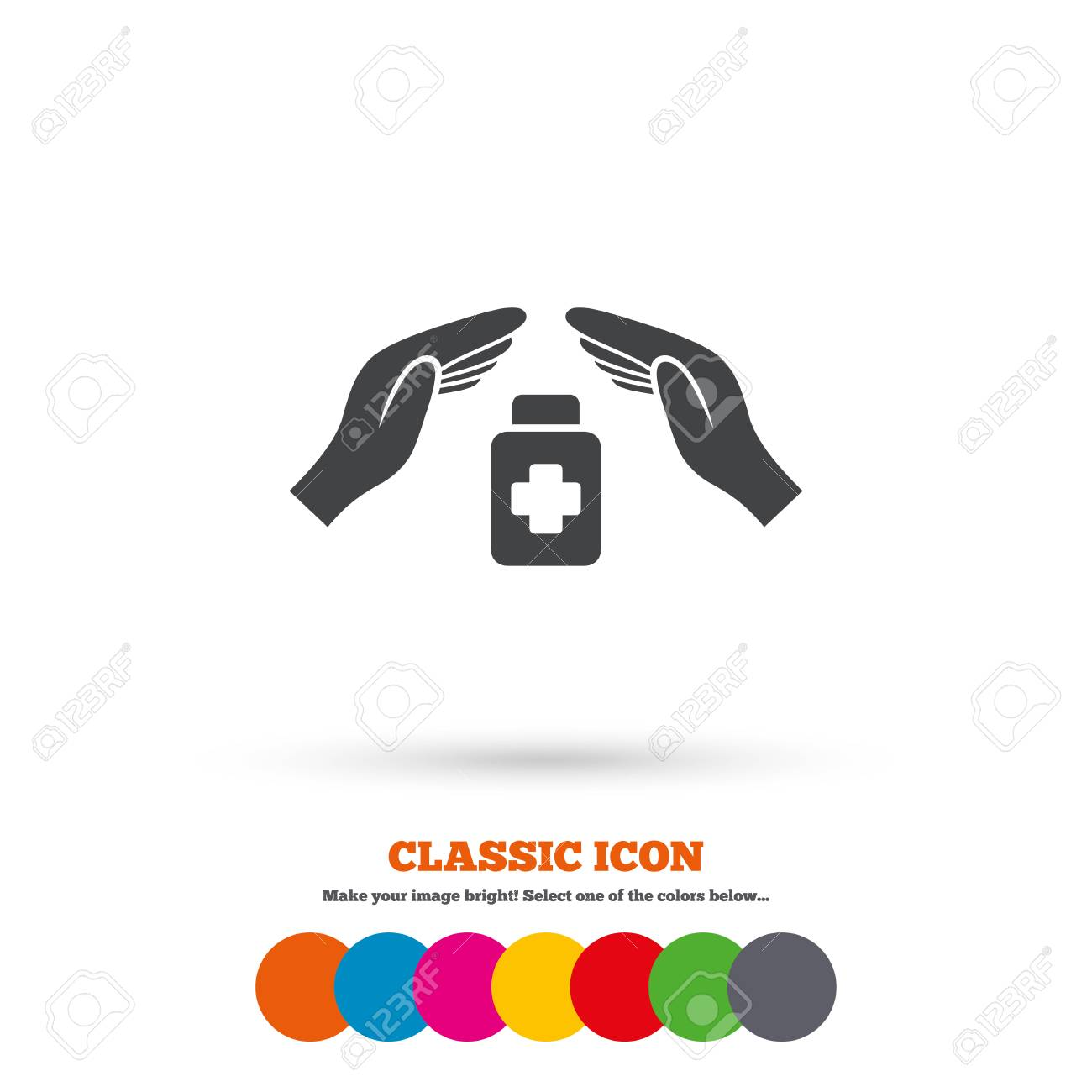 Medical Insurance Sign Icon Health Insurance Symbol Drugs Or