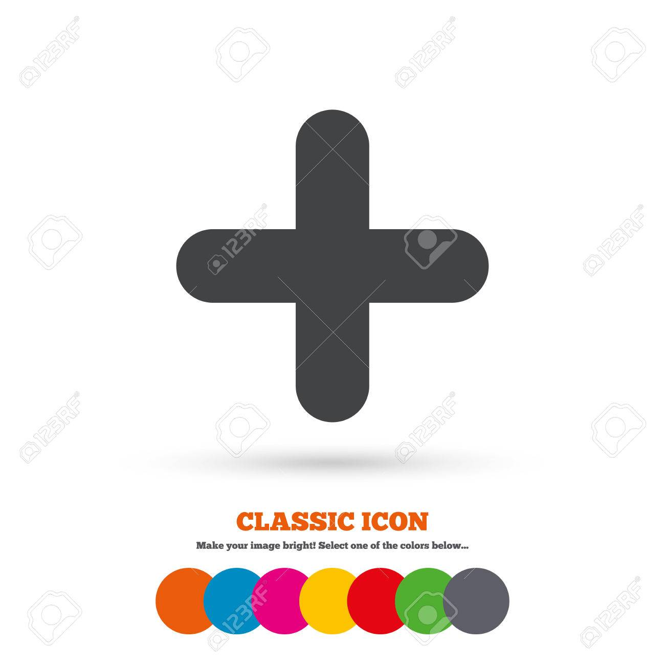 Plus sign icon positive symbol zoom in classic flat icon plus sign icon positive symbol zoom in classic flat icon colored circles biocorpaavc Choice Image