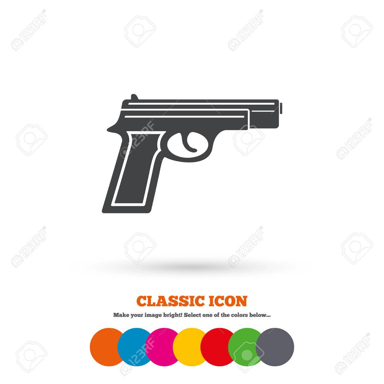 Gun sign icon firearms weapon symbol classic flat icon colored gun sign icon firearms weapon symbol classic flat icon colored circles vector biocorpaavc