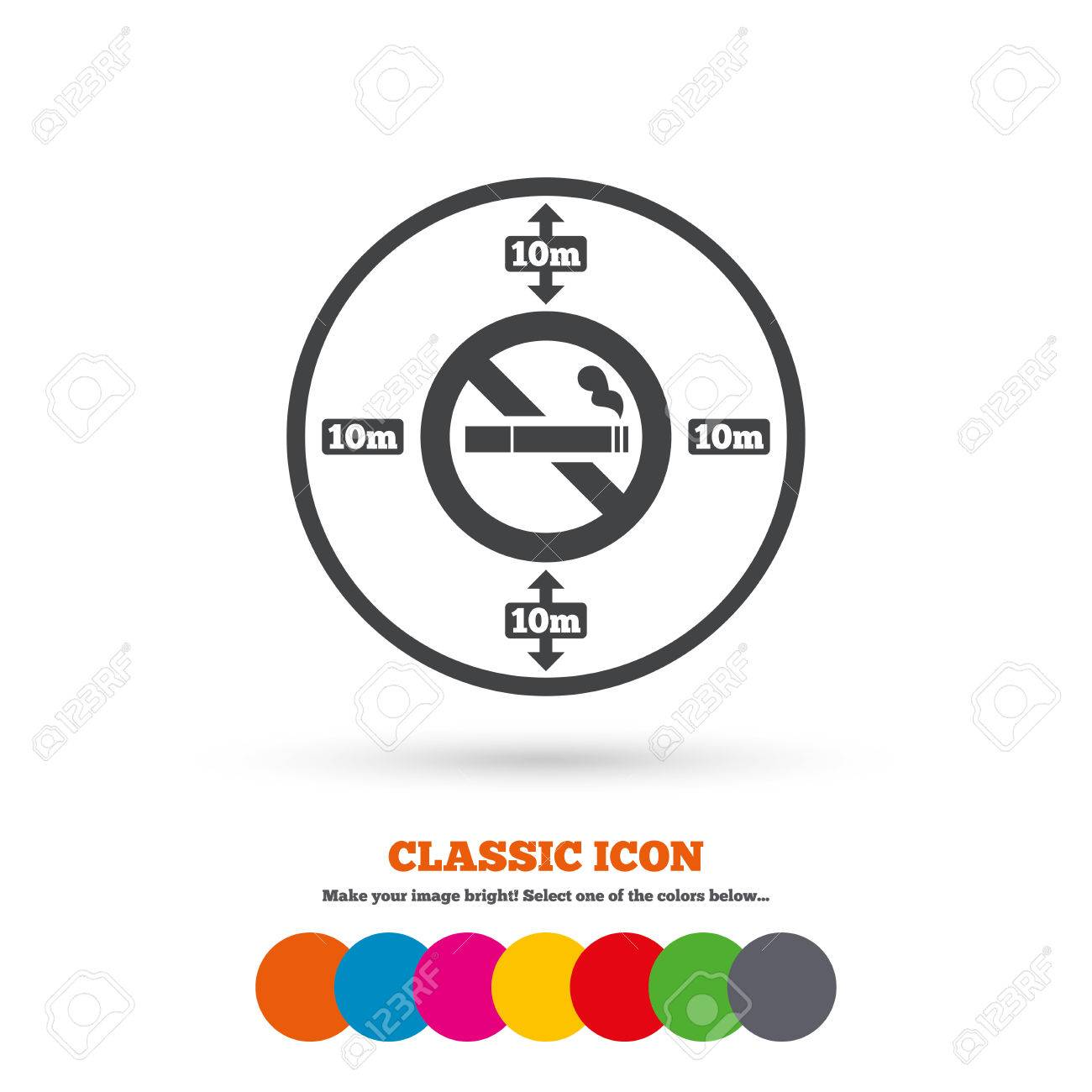 No smoking 10m distance sign icon stop smoking symbol classic no smoking 10m distance sign icon stop smoking symbol classic flat icon colored buycottarizona Images