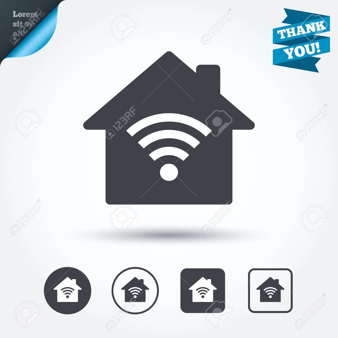 Home Wifi Sign. Wi-fi Symbol. Wireless Network Icon. Wifi Zone ...