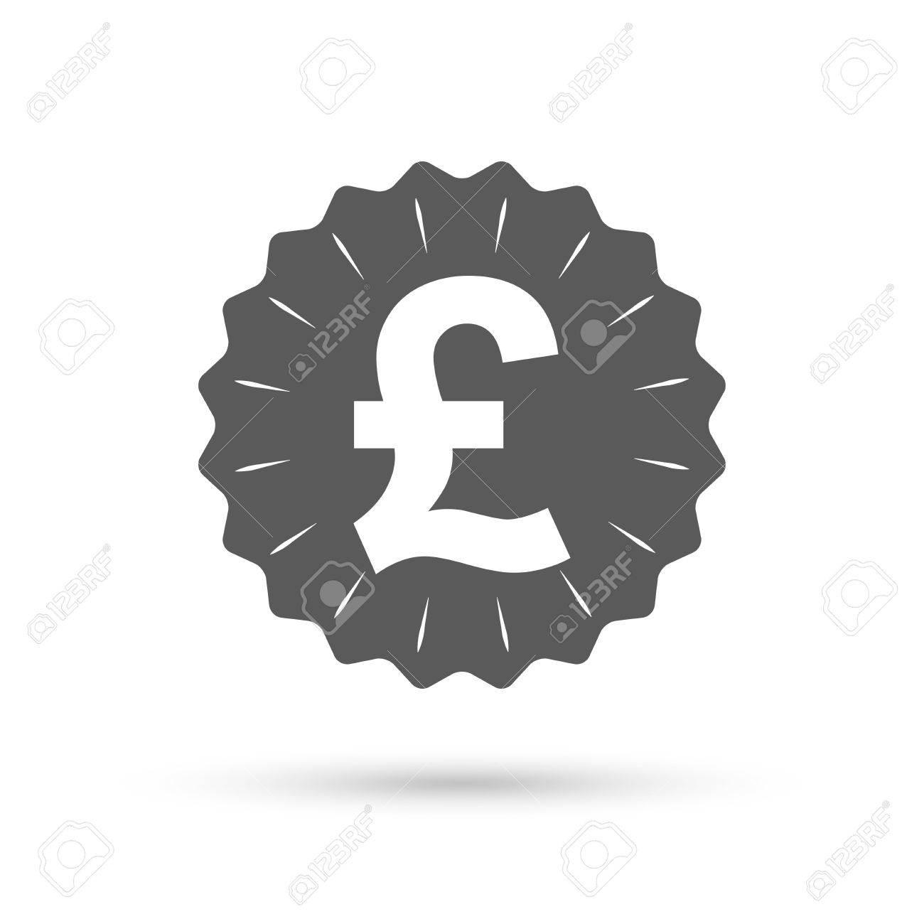 Vintage Emblem Medal Pound Sign Icon Gbp Currency Symbol Money