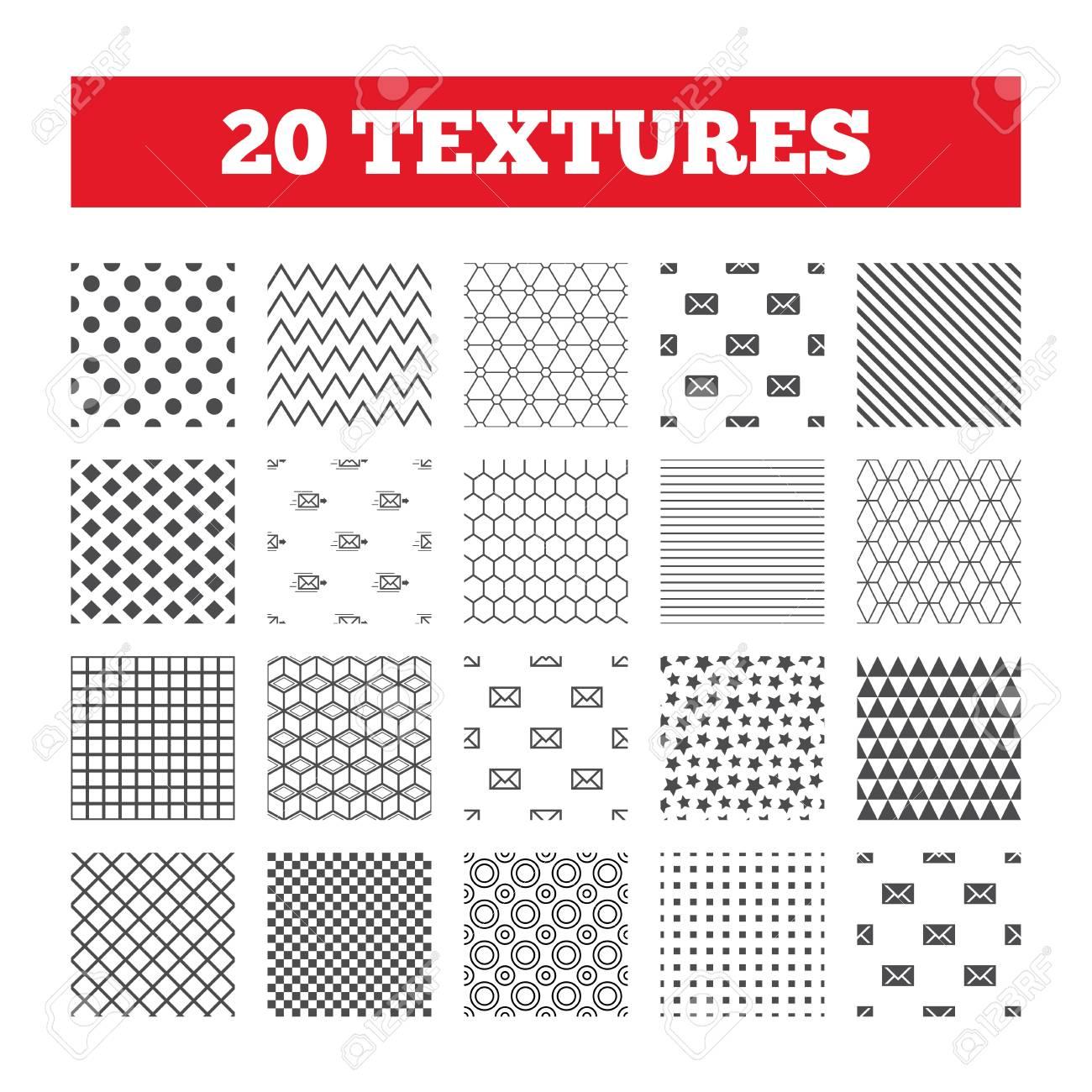 Nahtlose Muster Endlose Texturen Mail Umschlag Symbole Die
