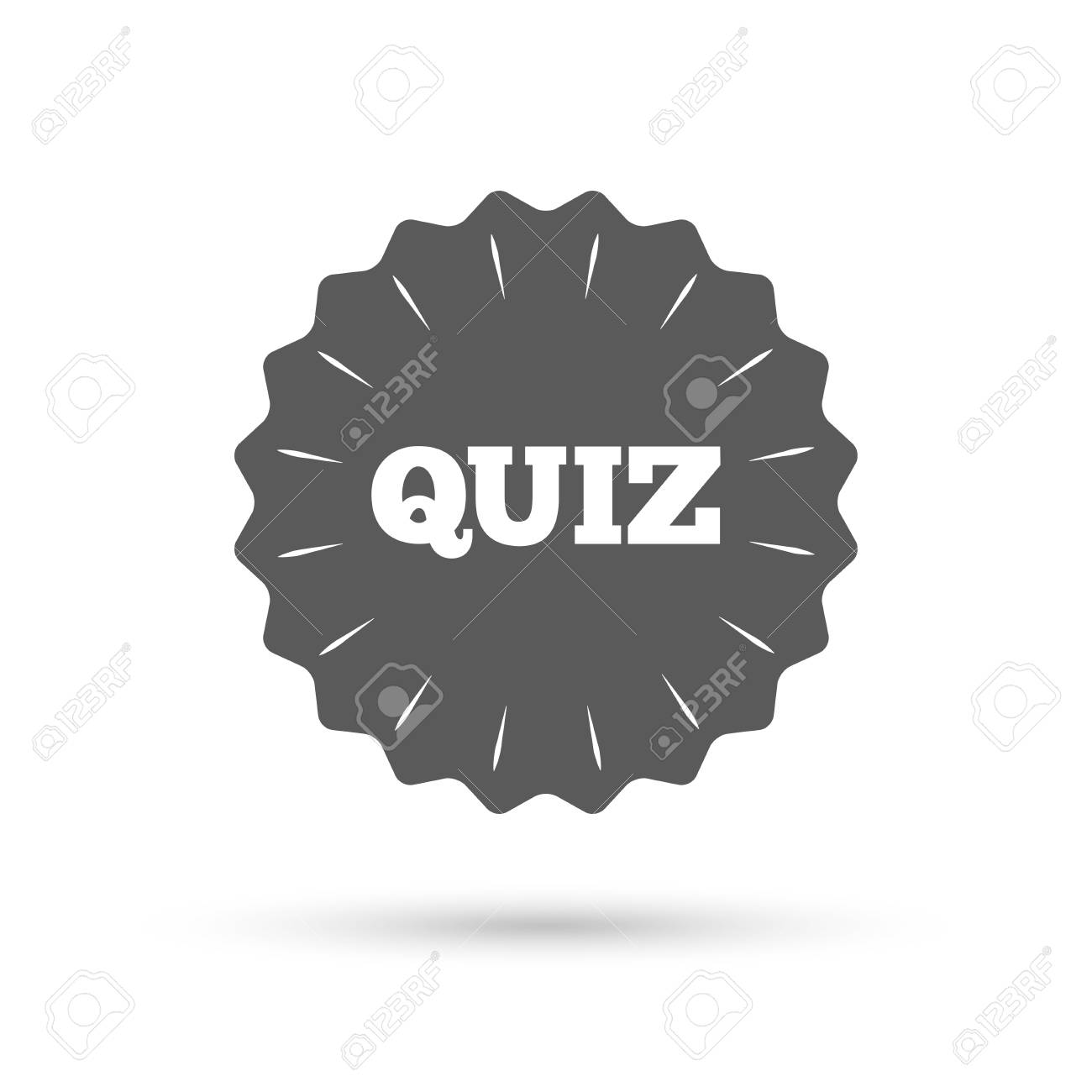 Vintage Emblem Medal Quiz Sign Icon Questions And Answers Game