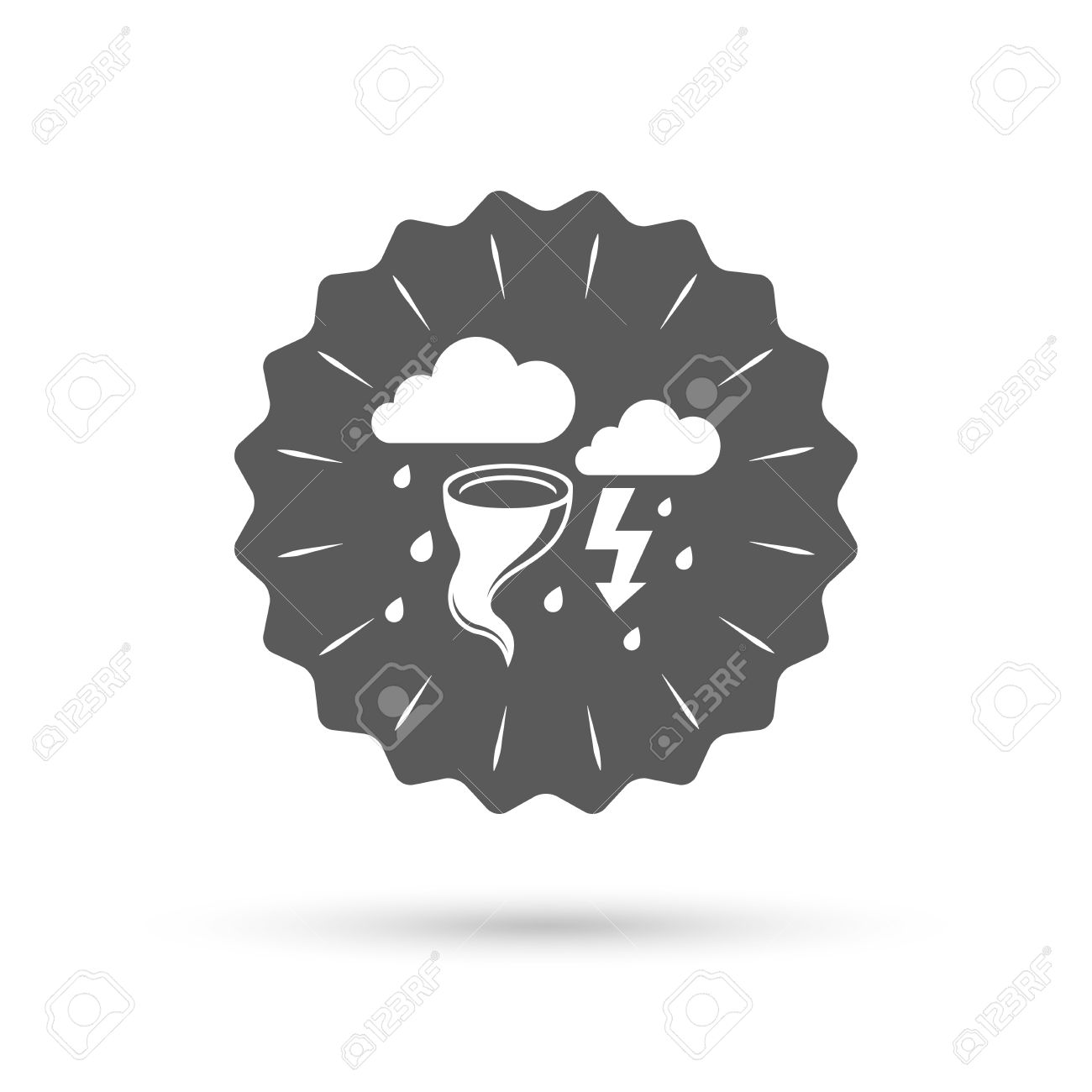 Weather Symbols Thunderstorm