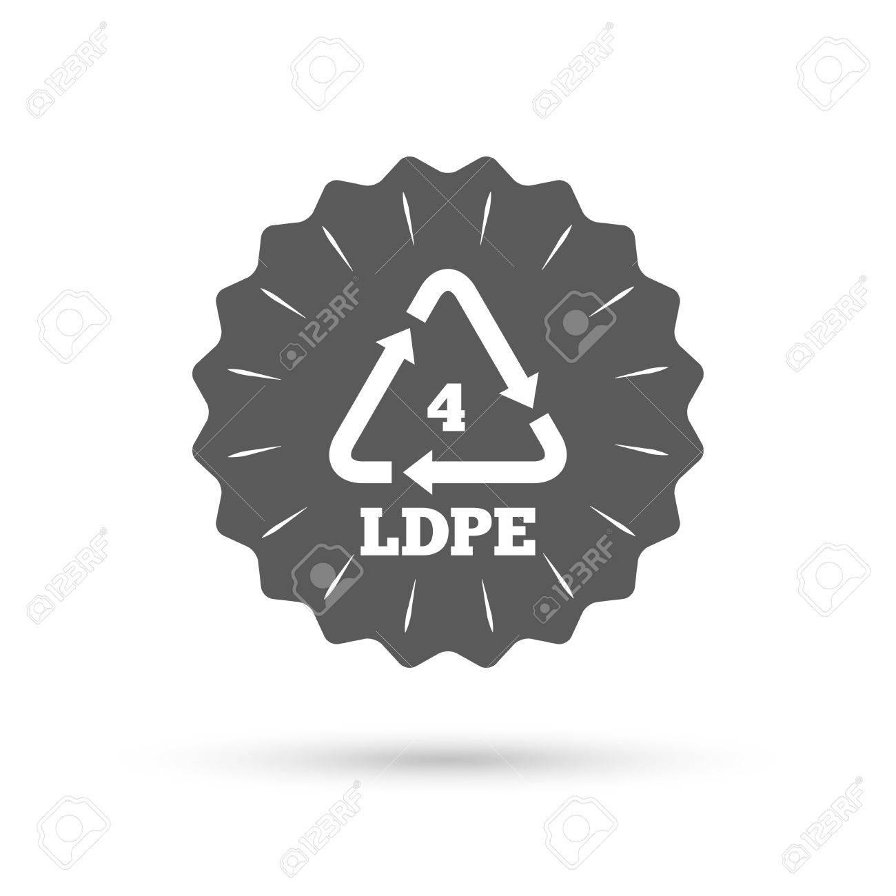 Vintage emblem medal ld pe 4 icon low density polyethylene ld pe 4 icon low density polyethylene sign biocorpaavc Choice Image