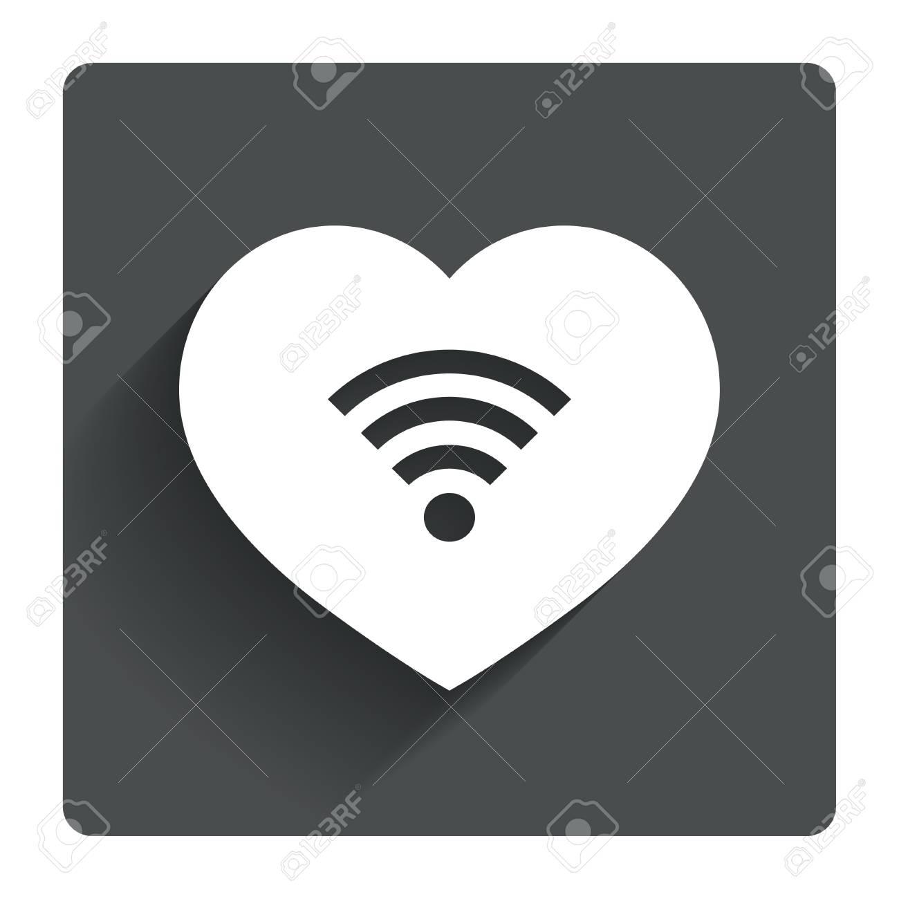 Love Wifi Sign Wi Fi Symbol Wireless Network Icon Wifi Zone
