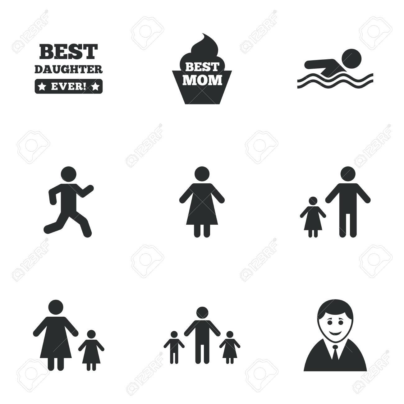 People family icons swimming pool person signs best mom people family icons swimming pool person signs best mom father and biocorpaavc