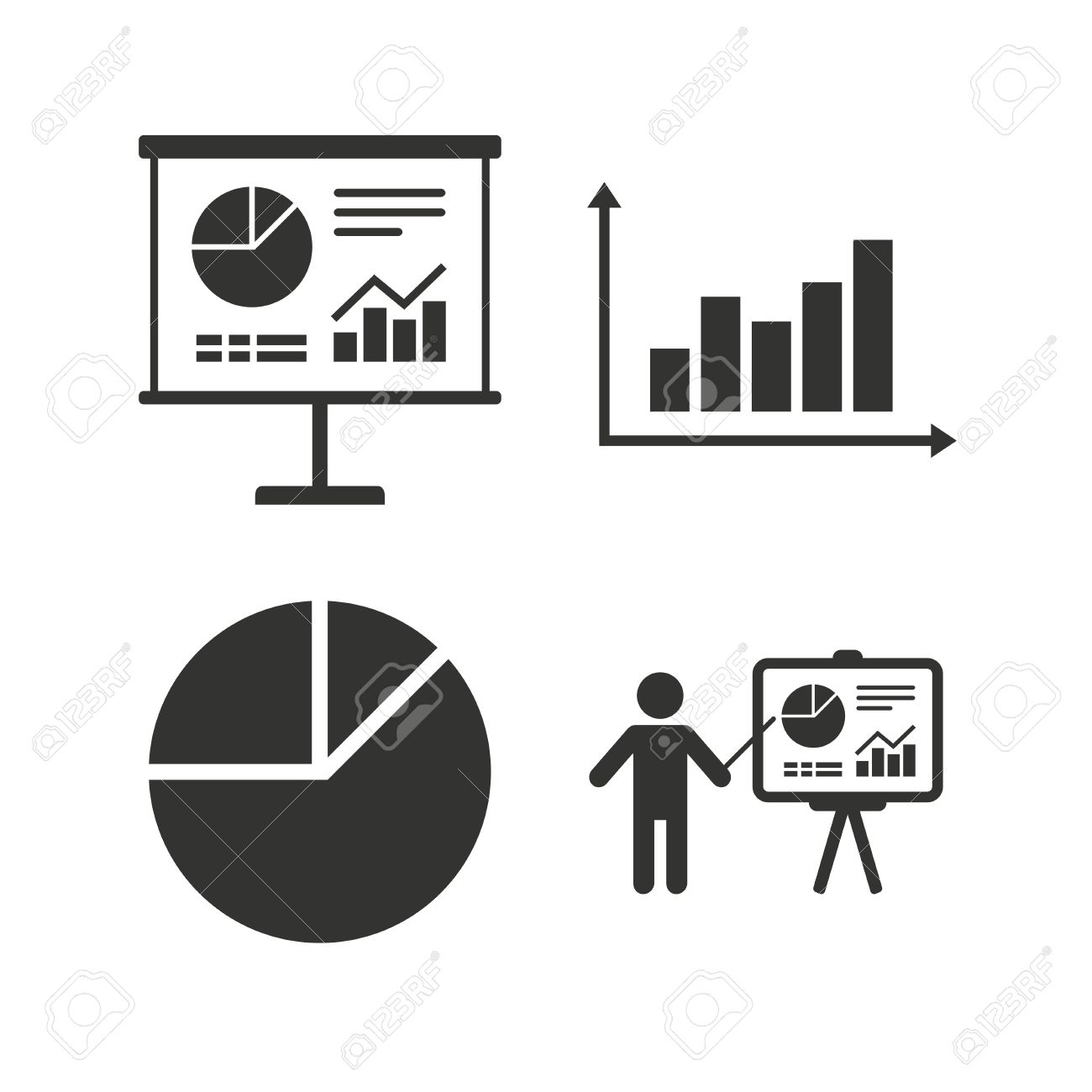 Diagram graph Pie chart icon  Presentation billboard symbol