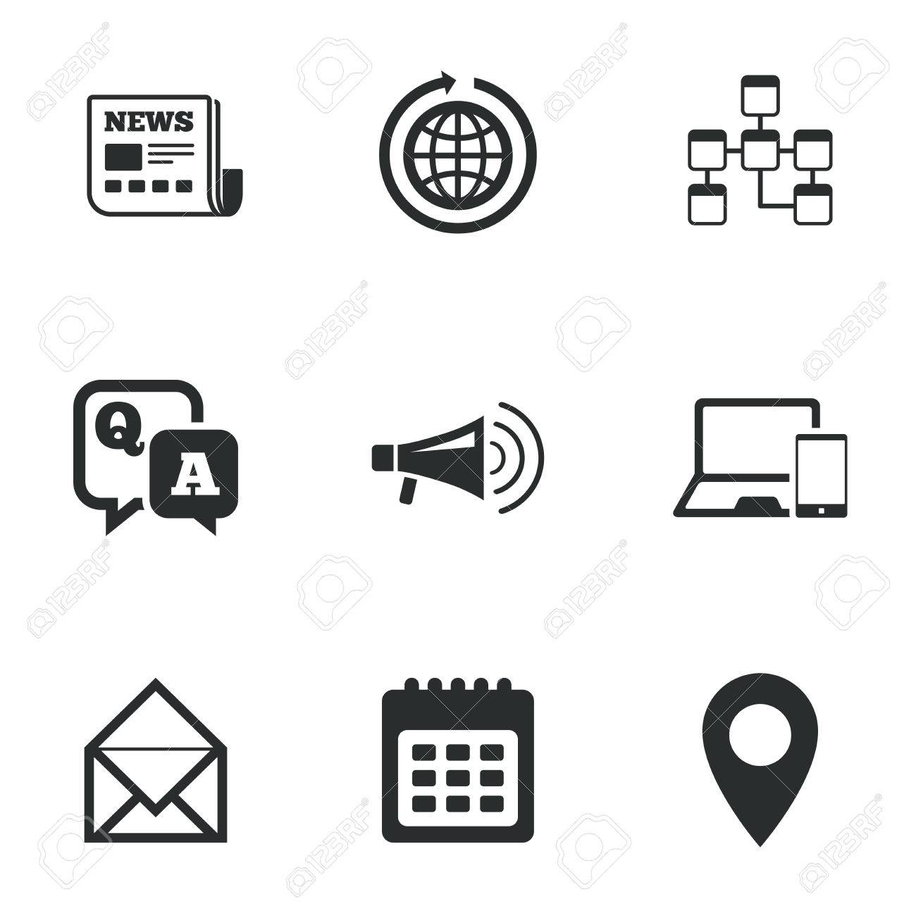 Communication icons news chat messages and calendar signs communication icons news chat messages and calendar signs e mail question biocorpaavc Gallery