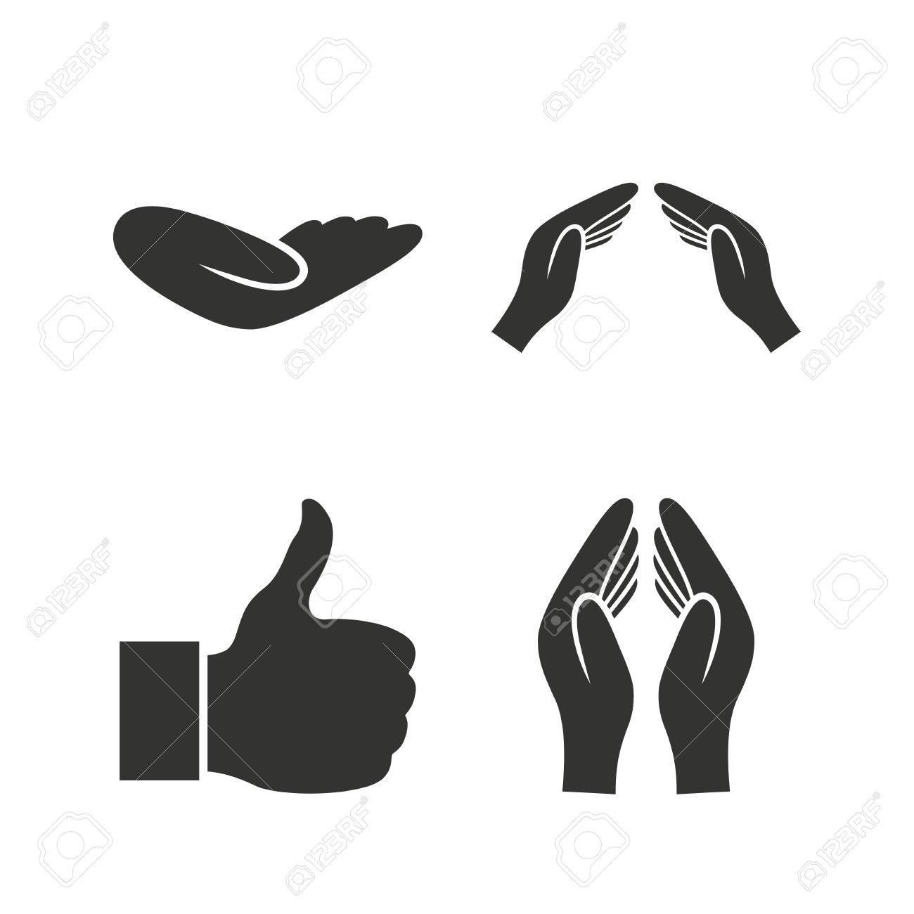 Hand icons like thumb up symbol insurance protection sign hand icons like thumb up symbol insurance protection sign human helping donation hand biocorpaavc