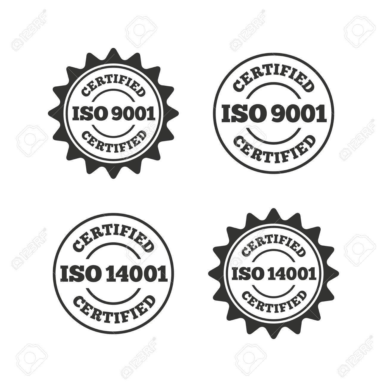 Iso 9001 and 14001 certified icons certification star stamps iso 9001 and 14001 certified icons certification star stamps symbols quality standard signs buycottarizona