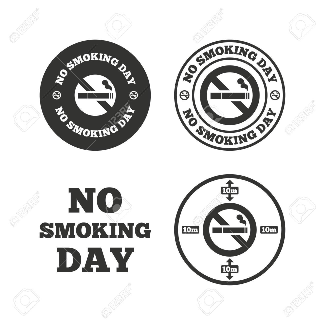 No smoking day icons against cigarettes signs quit or stop no smoking day icons against cigarettes signs quit or stop smoking symbols flat buycottarizona Images