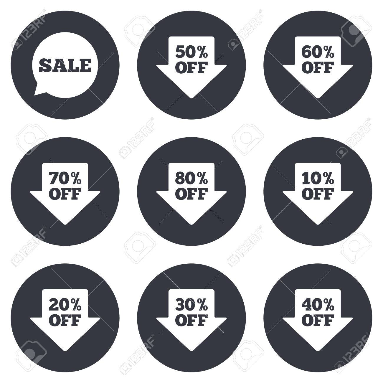 Sale Discounts Icons. Special Offer Signs. Shopping Price Tag ...