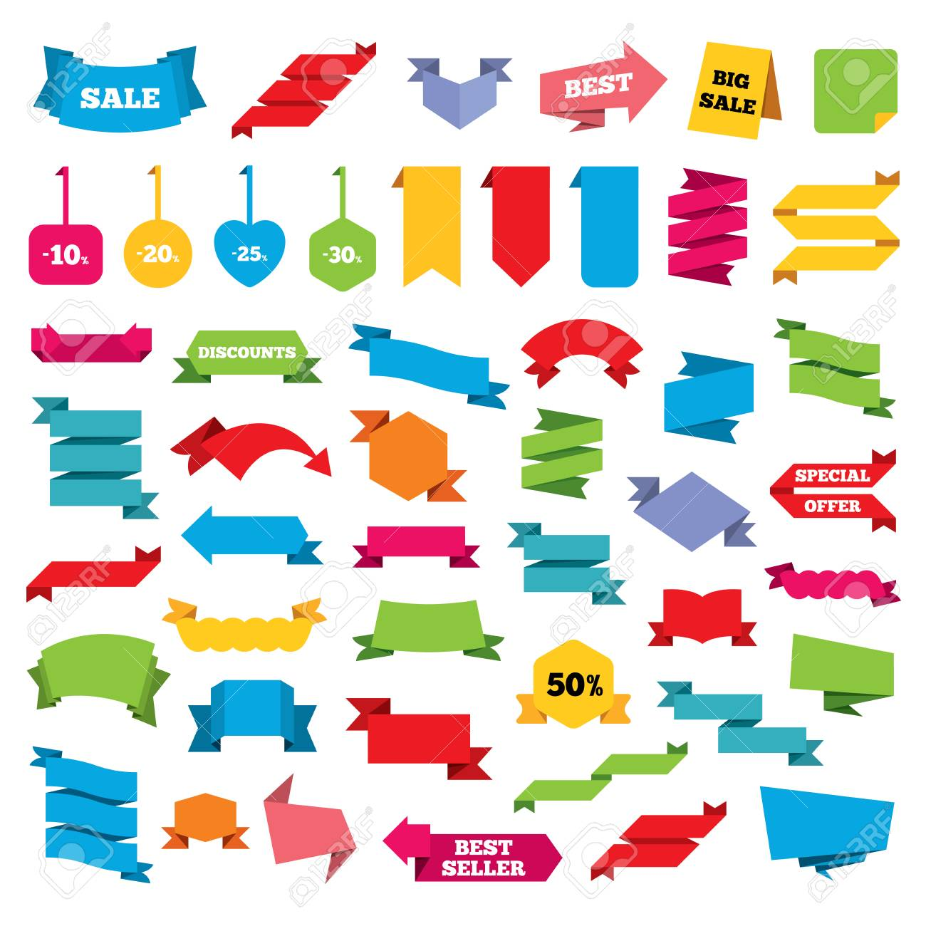 Web stickers banners and labels sale discount icons special web stickers banners and labels sale discount icons special offer price signs biocorpaavc Choice Image