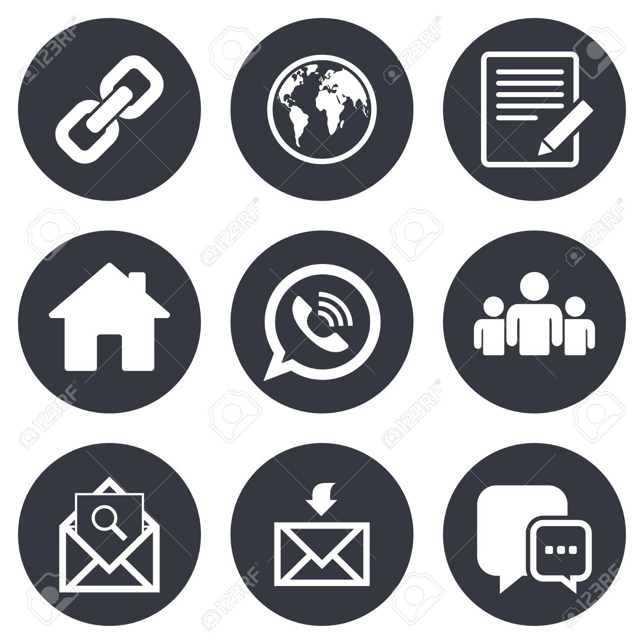 Communication icons contact mail signs e mail call phone communication icons contact mail signs e mail call phone and group biocorpaavc Gallery