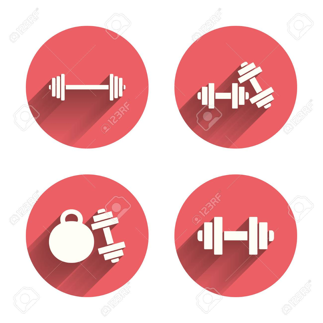 Dumbbells sign icons fitness sport symbols gym workout equipment dumbbells sign icons fitness sport symbols gym workout equipment pink circles flat buttons biocorpaavc