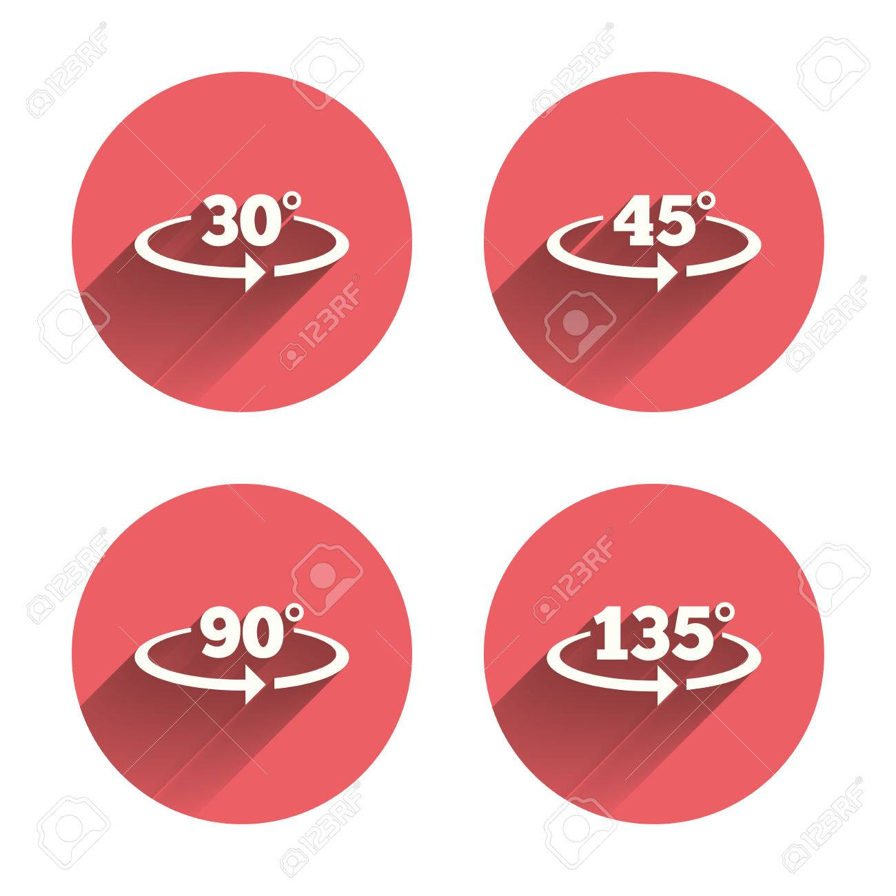 Angle 30 135 degrees icons geometry math signs symbols full geometry math signs symbols full complete rotation arrow biocorpaavc Images