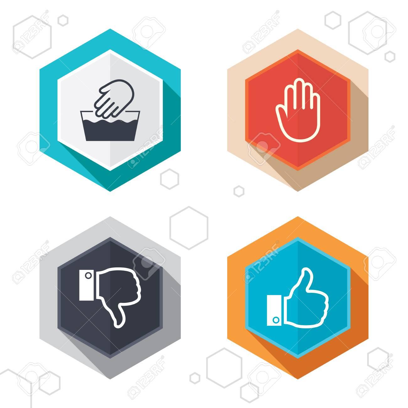 Hexagon buttons hand icons like and dislike thumb up symbols hand icons like and dislike thumb up symbols not machine washable buycottarizona