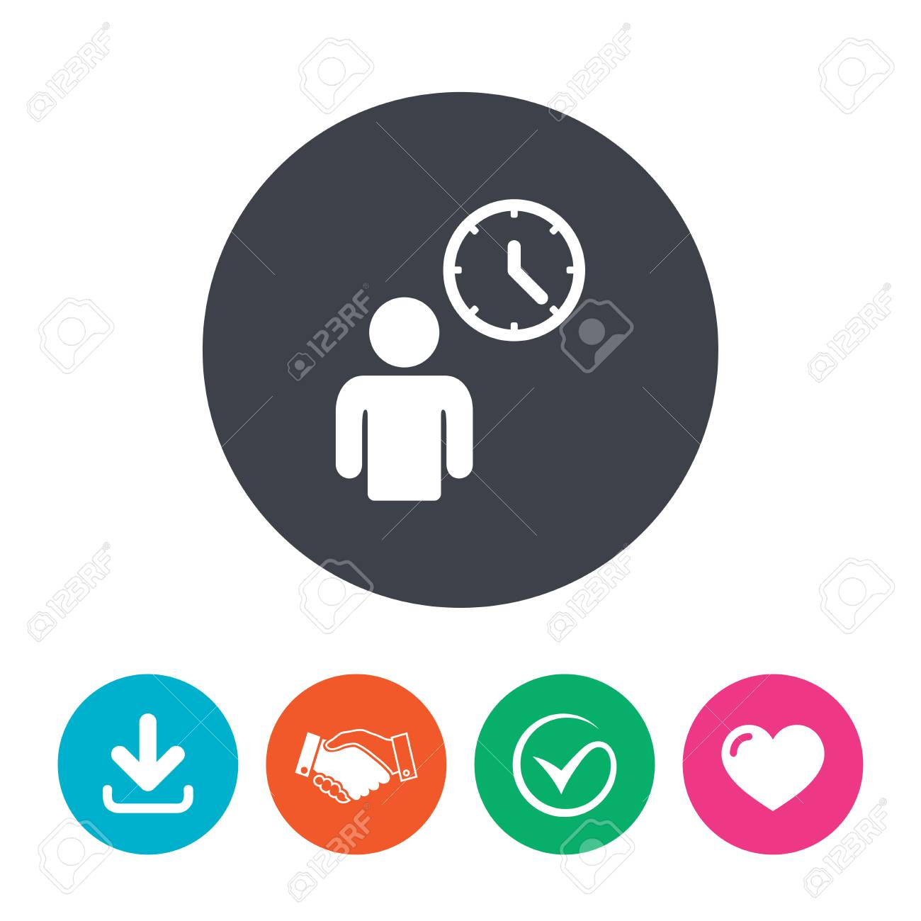 Person waiting sign icon time symbol queue download arrow person waiting sign icon time symbol queue download arrow handshake tick ccuart Images