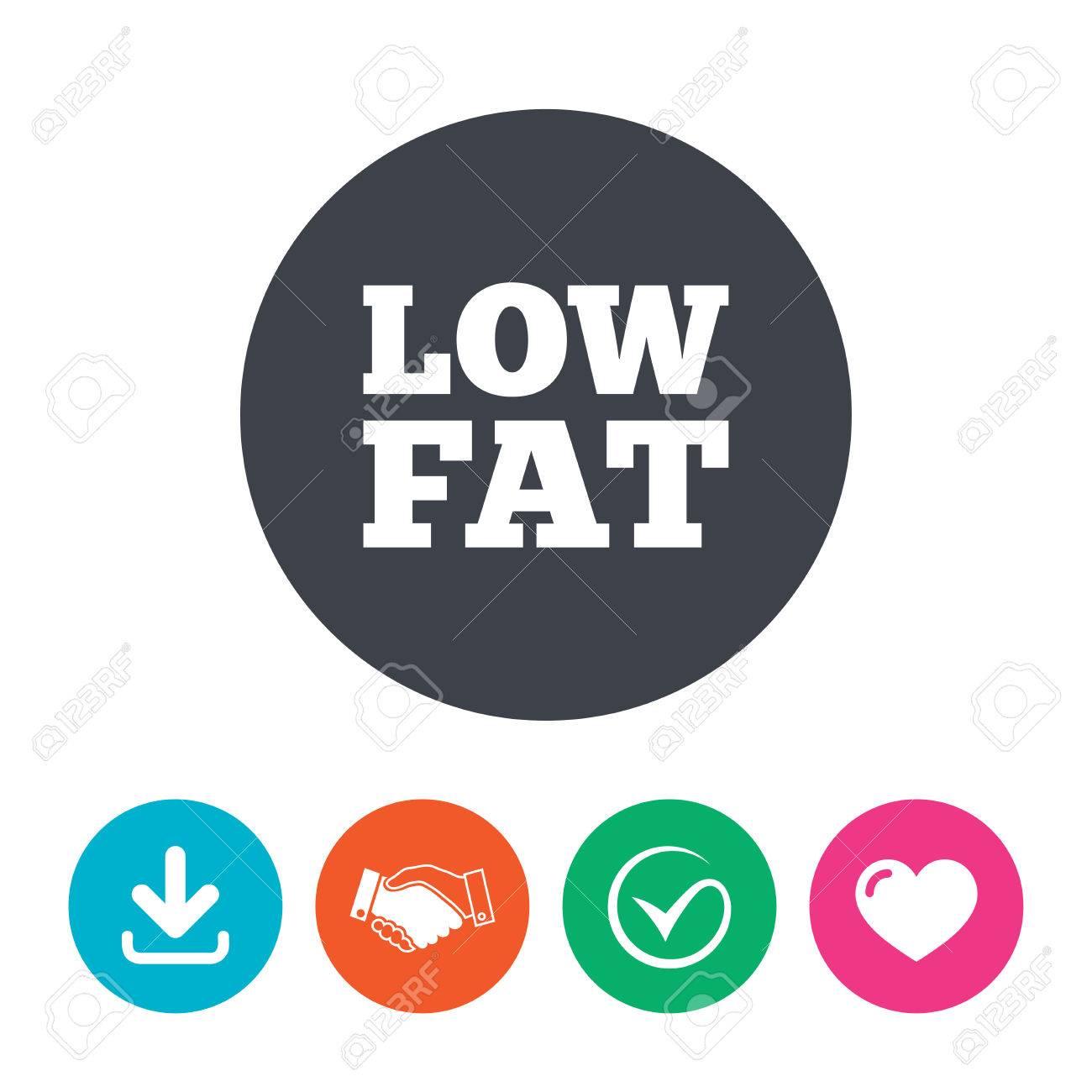 Low Fat Sign Icon Salt Sugar Food Symbol Download Arrow