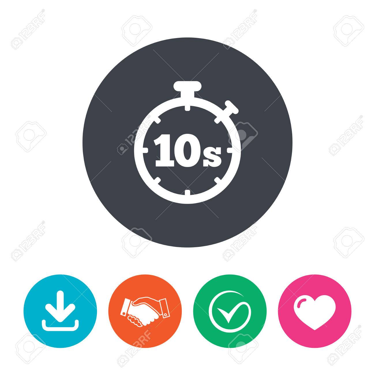 Timer 10 seconds sign icon stopwatch symbol download arrow timer 10 seconds sign icon stopwatch symbol download arrow handshake tick and publicscrutiny Image collections