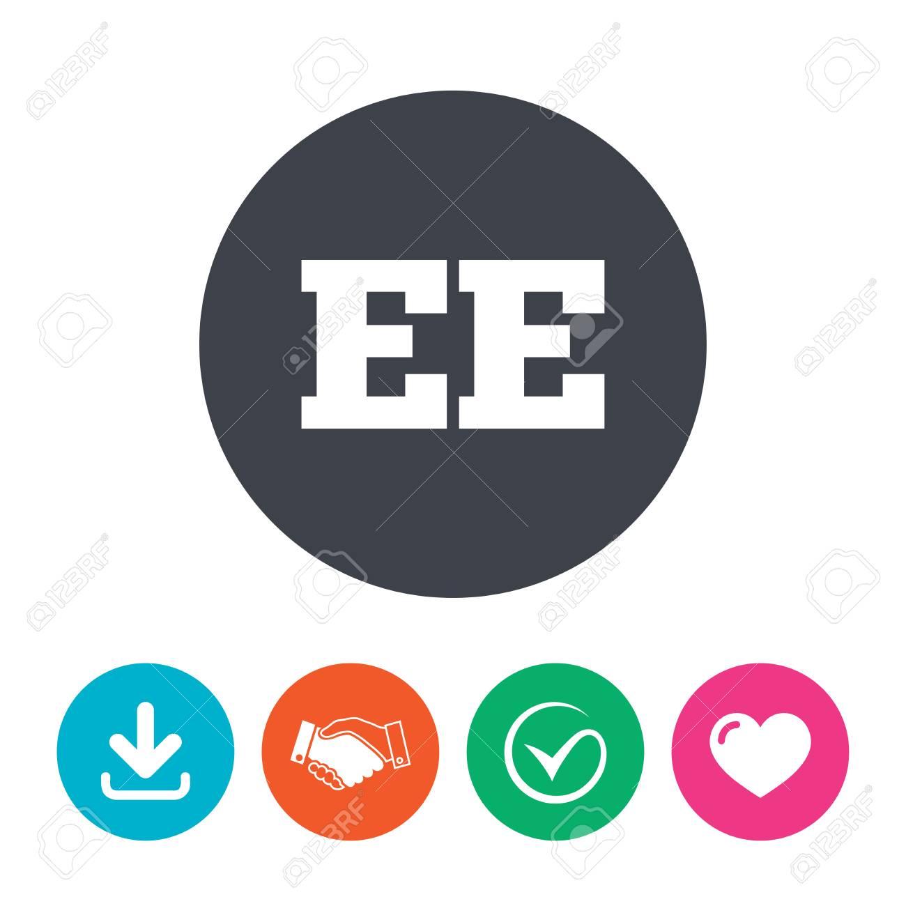 Estonian Language Sign Icon. EE Translation Symbol. Download ...