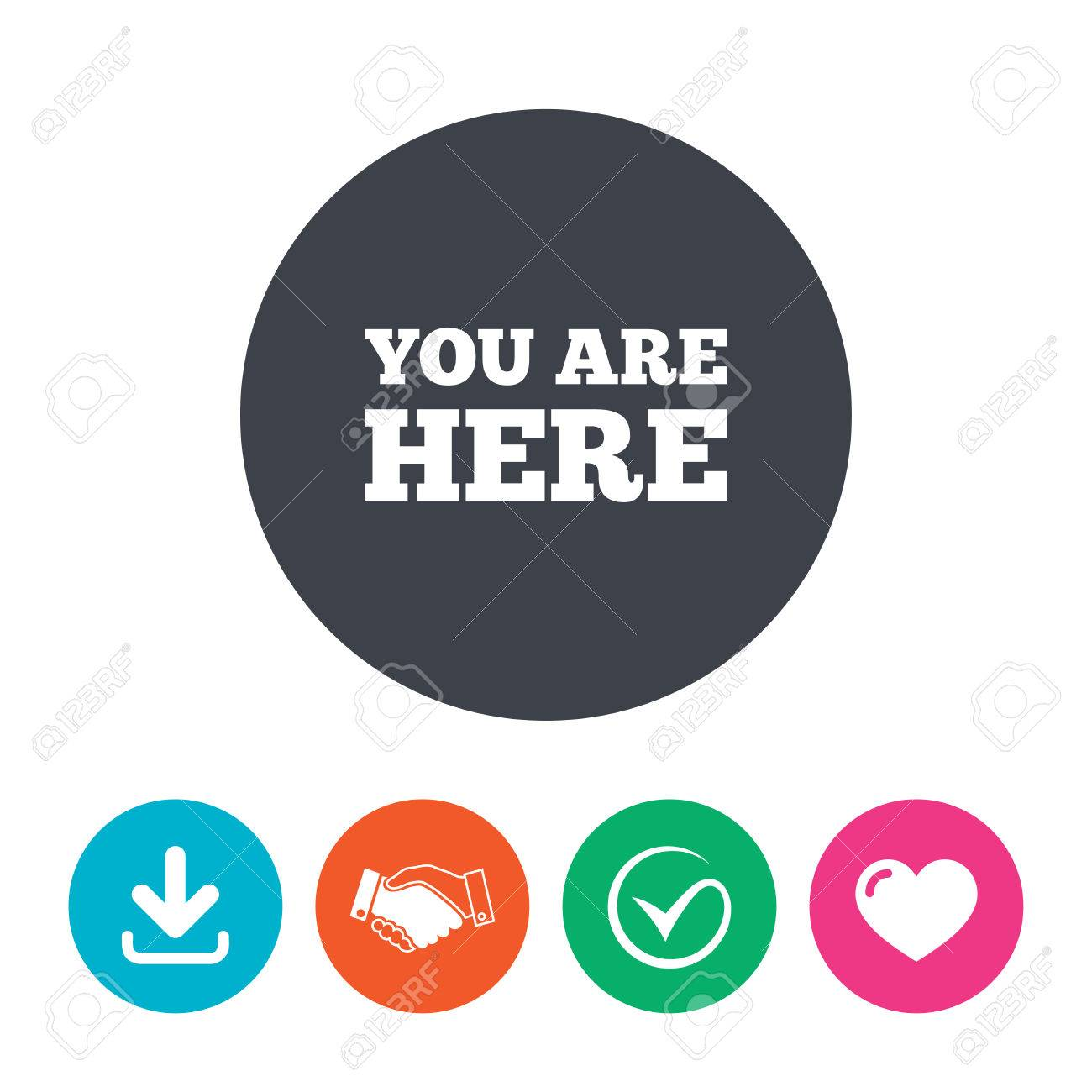 You Are Here Sign Icon Info Text Symbol For Your Location Download