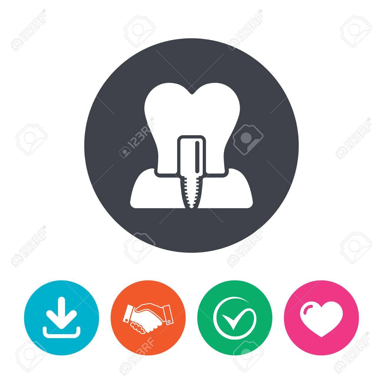 Dental Endosseous Implant Sign Care Symbol Download Arrow