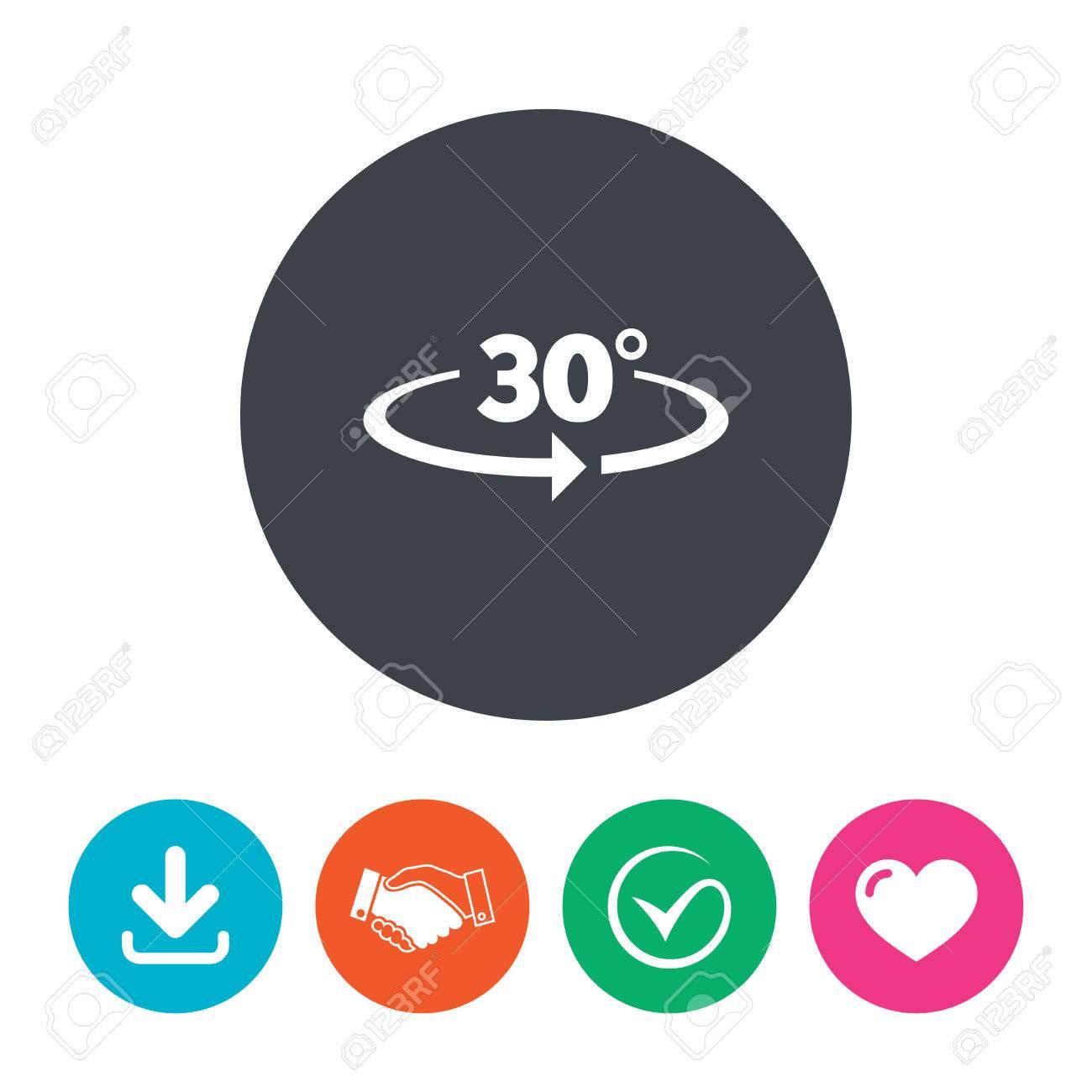 winkel 30 grad, zeichen-symbol. geometrie mathe symbol. download