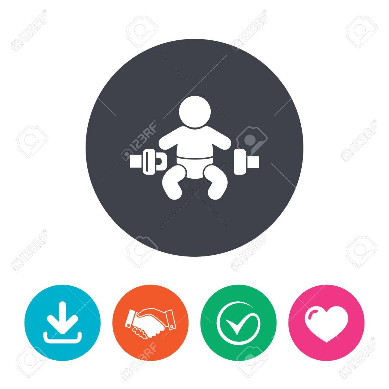 Anschnallzeichen Symbol. Kindersicherheit In Unfall. Download-Pfeil ...