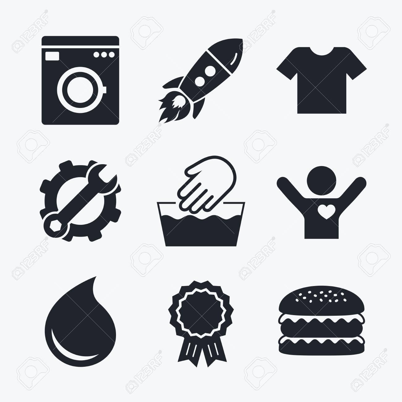 Award achievement spanner and cog startup rocket and burger award achievement spanner and cog startup rocket and burger wash machine icon biocorpaavc
