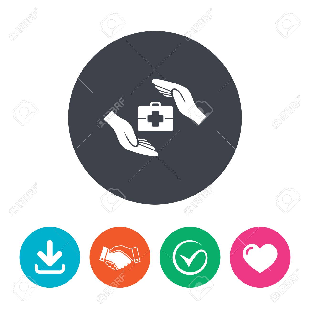 Medical Insurance Sign Icon Health Insurance Symbol Doctor