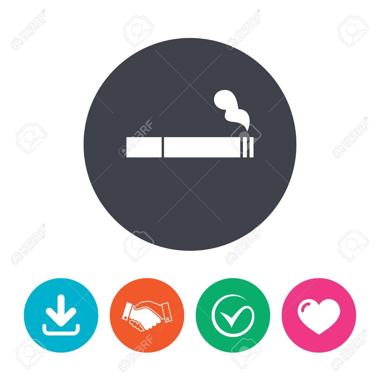 smoking sign icon cigarette symbol download arrow handshake
