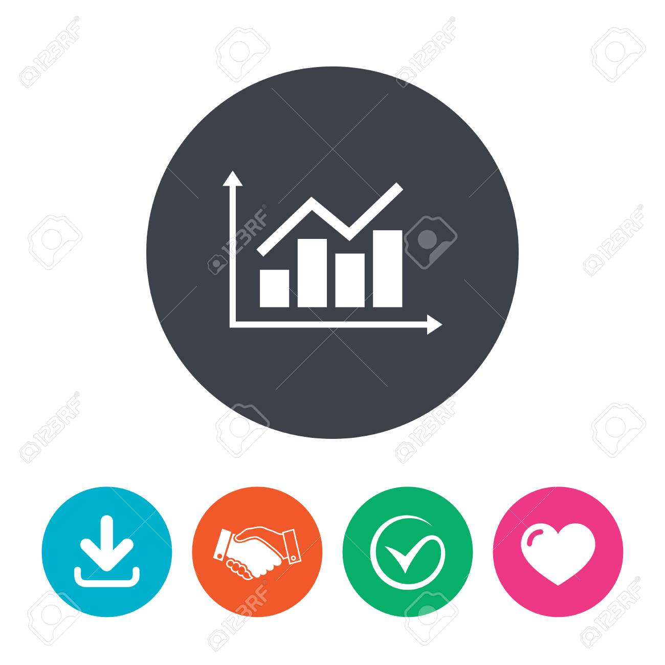 Graph chart sign icon diagram symbol statistics download arrow graph chart sign icon diagram symbol statistics download arrow handshake tick ccuart Choice Image