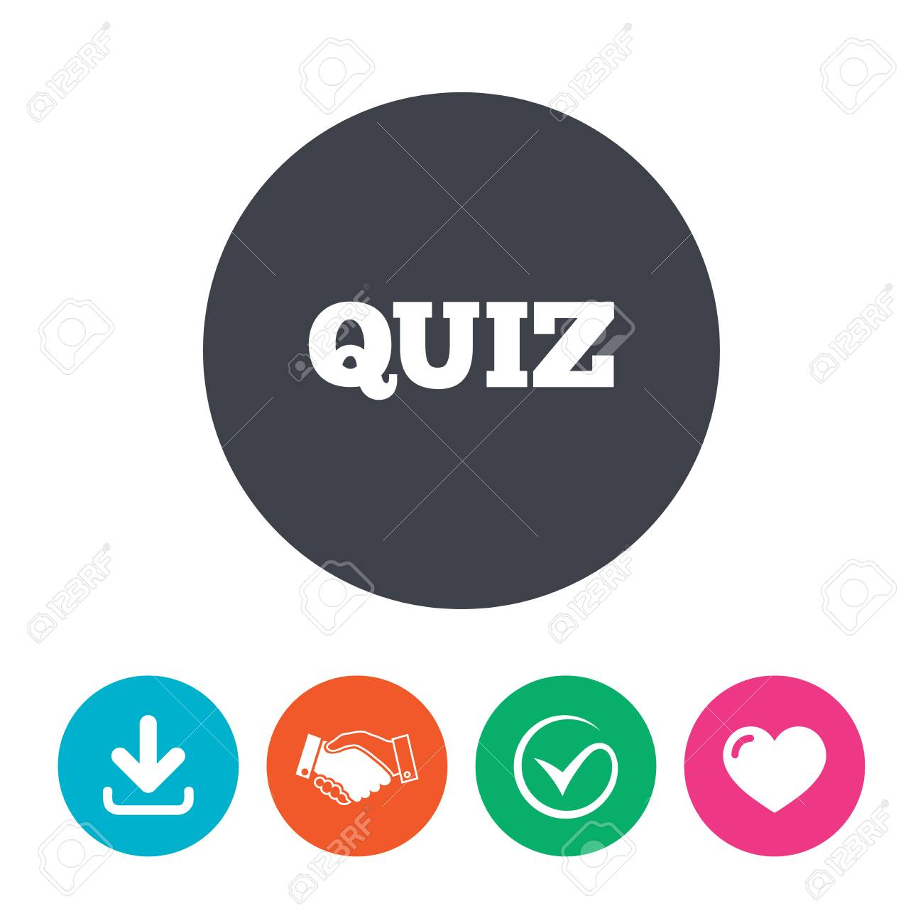 Quiz sign icon questions and answers game symbol download arrow questions and answers game symbol download arrow handshake tick ccuart Image collections