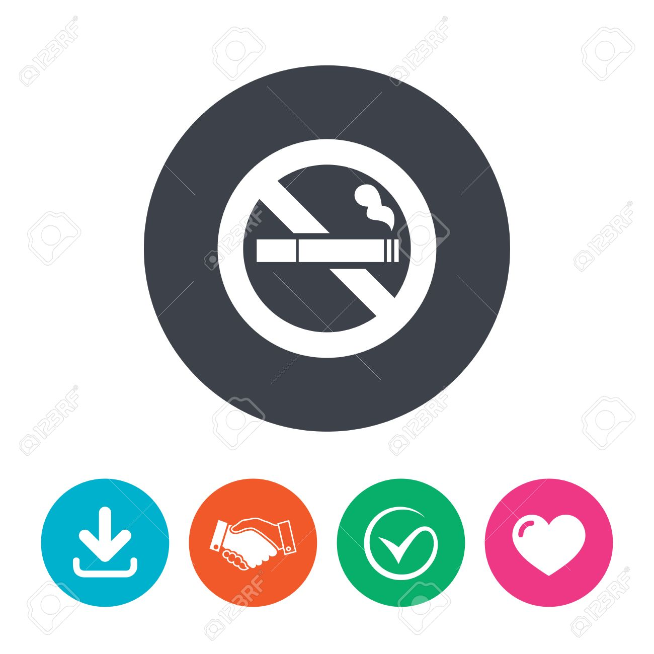 No Smoking Sign Icon Cigarette Symbol Download Arrow Handshake
