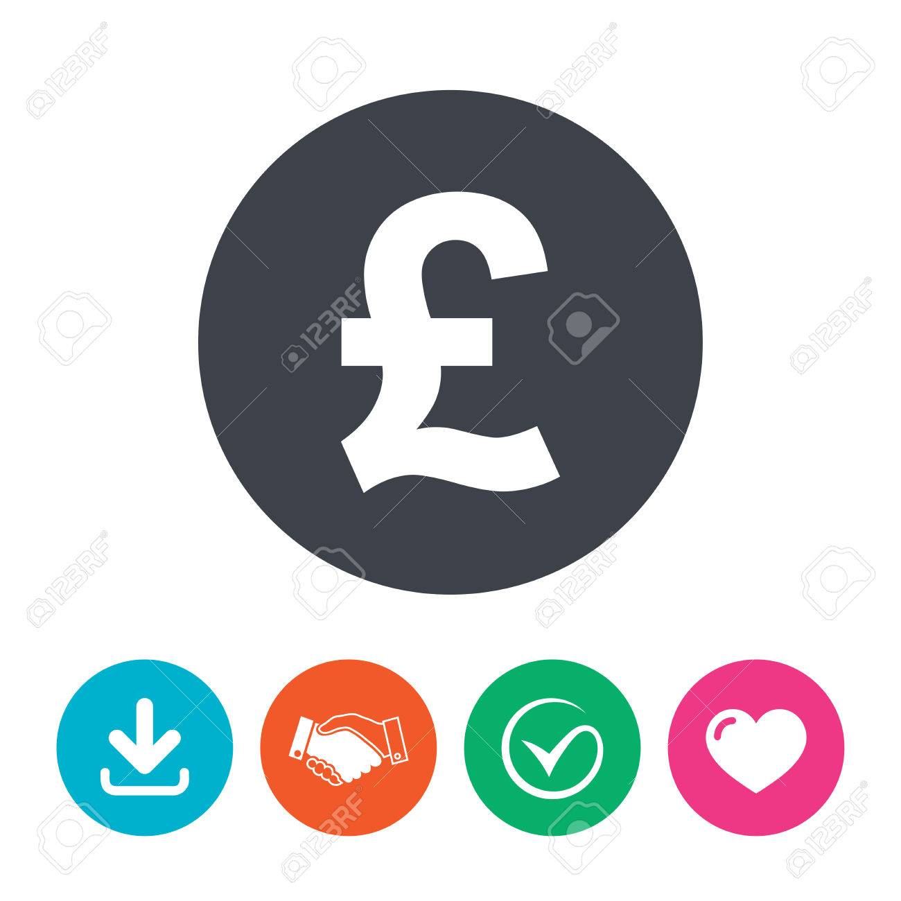 Pound Sign Icon Gbp Currency Symbol Money Label Download Arrow