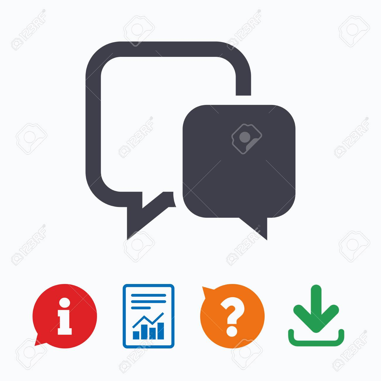 Chat Sign Icon Speech Bubble Symbol Communication Chat Bubble
